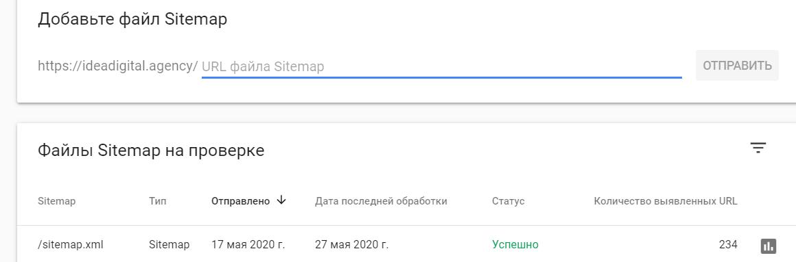 проверить sitemap google